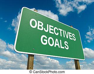 objectifs, buts
