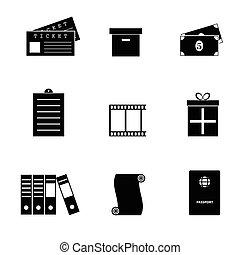 objet, ensemble, illustration