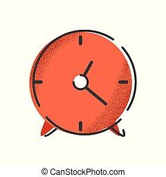 objet, isolé, clock., vecteur, internet, retro., icône