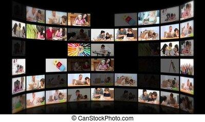 objets, divers, illustrer, montage, pédagogique, enfants, système