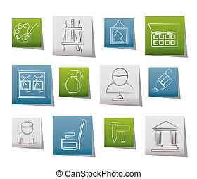 objets, icônes, art, amende