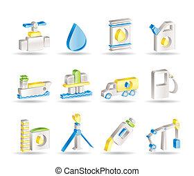 objets, industrie, essence, huile