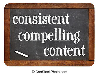 obliger, contenu, consistent