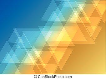 oblique, triangle, résumé, fond, chevauchement