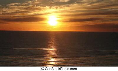 océan coucher soleil