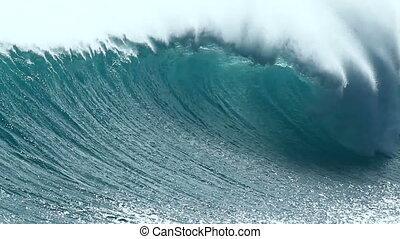 océan, hawaï, vague