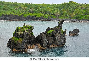 océan, mer, rochers