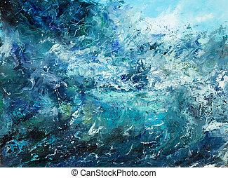 océan, résumé, vagues