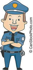 occupation, policier