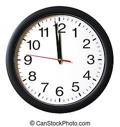 oclock, 12, minute, une