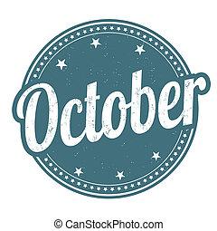 octobre, timbre