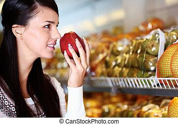 odeur, pomme