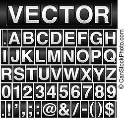 odomètre, alphabet, nombres