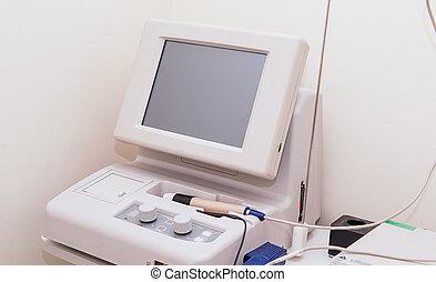 oeil, bureau., monde médical, foyer, instrument, clinique, sélectif, ophtalmologie, santé, concept., soin