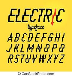 oeil caractère, électrique, style