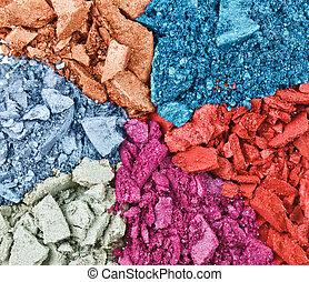 oeil, fond, macro, ensemble, cassé, ombre, multicolore