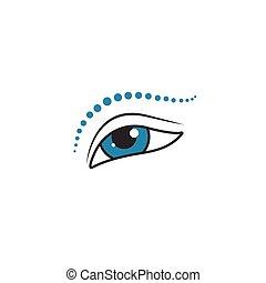 oeil, icône, maquillage