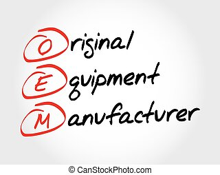 oem, équipement, original, fabricant