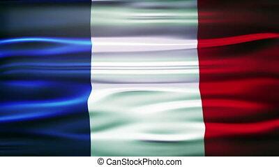officiel, drapeau, francais, doucement, onduler, france., vent