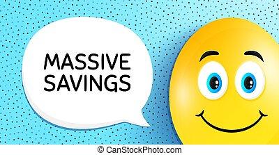 offre, savings., signe., coût, massif, vecteur, spécial