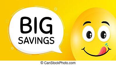 offre, spécial, savings., signe., vecteur, grand, coût