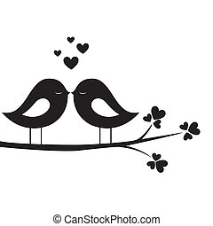 oiseau, baiser