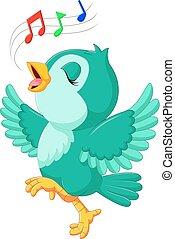 oiseau chant, mignon