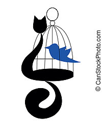 oiseau, chat