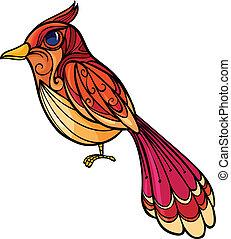 oiseau, coloré