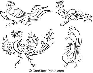 oiseau tribal, illustration
