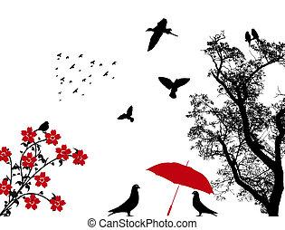 oiseaux, fond