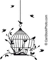 oiseaux, vecteur, gratuite