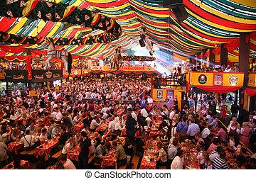 oktoberfest, 16:, allemagne, munich, octobre, -, 16, 2007, munich