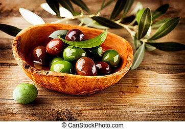 olive, olives, huile