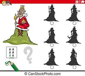 ombres, caractères, roi, jeu, dessin animé, colline