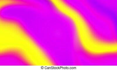 ondulé, arrière-plan coloré, mouvement, résumé, 4k., boucle, multi, surface, iridescent, géométrique, vif