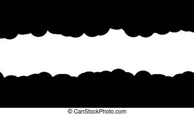 ondulé, cadre, masque, horizontal, bord