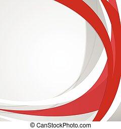 ondulé, résumé, vecteur, arrière-plan rouge