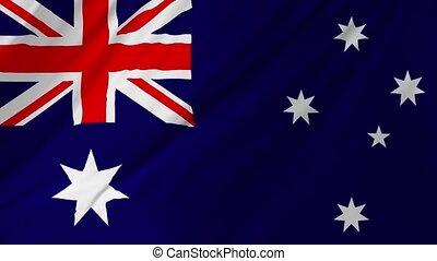 onduler, 1, drapeau, 2, australien, vent