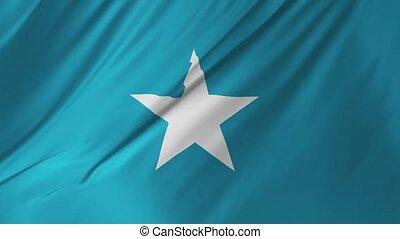 onduler, 1, drapeau, 2, somalie, vent
