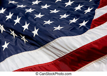 onduler, américain, 2, drapeau