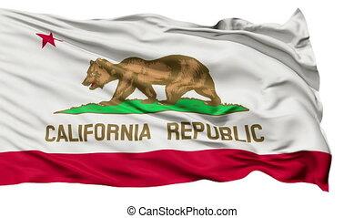 onduler, californie, drapeau national, isolé