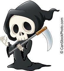 onduler, dessin animé, reaper, sinistre, main