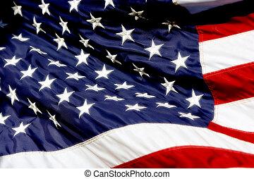 onduler, drapeau américain