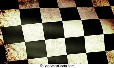 onduler, drapeau, checkered, grunge