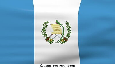 onduler, drapeau guatemala