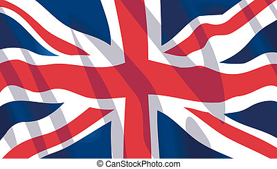 onduler, drapeau national, britannique