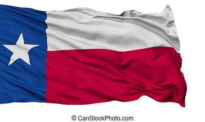 onduler, drapeau national, isolé, texas