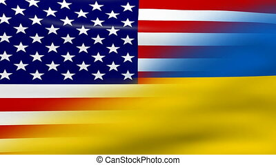 onduler, drapeau ukraine, usa