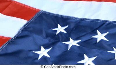 onduler, liberté, concept, étoile, blue., raies, democracy., symbole, vent, drapeau, 4ème, etats, arrière-plan., america., uni, beautifully, blanc, juillet, rouges